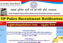 UP Police Recruitment 2021 Sub-Inspector & ASI Vacancy